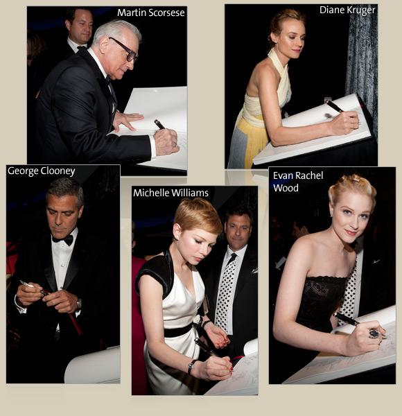 Martin Scorsese, George Clooney, Michelle Williams, Diane Kruger, Evan Rachel Wood