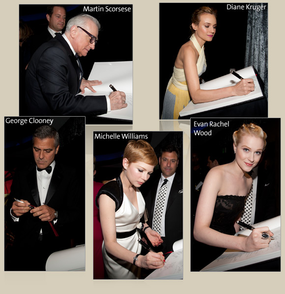 Martin Scorsese, George Clooney, Michelle Williams, Diane Kruger, Evan Rachel Wood
